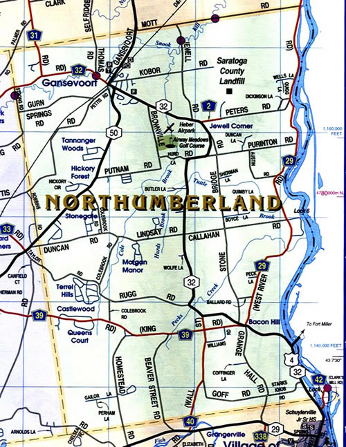 Map of Northumberland New York